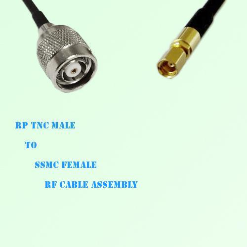 RP TNC Male to SSMC Female RF Cable Assembly