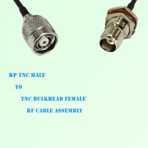 RP TNC Male to TNC Bulkhead Female RF Cable Assembly