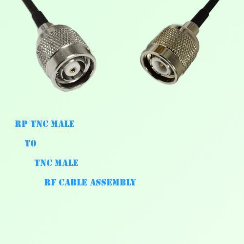 RP TNC Male to TNC Male RF Cable Assembly