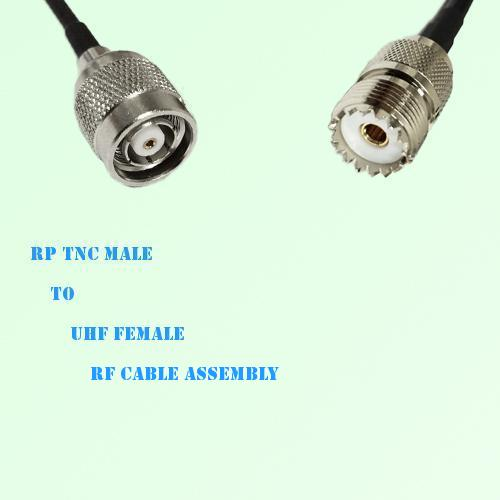 RP TNC Male to UHF Female RF Cable Assembly