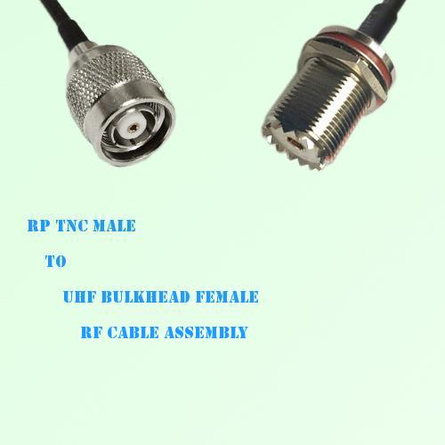 RP TNC Male to UHF Bulkhead Female RF Cable Assembly