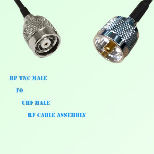 RP TNC Male to UHF Male RF Cable Assembly