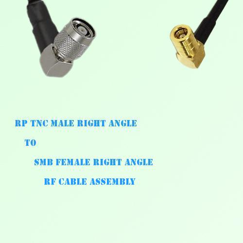 RP TNC Male Right Angle to SMB Female Right Angle RF Cable Assembly