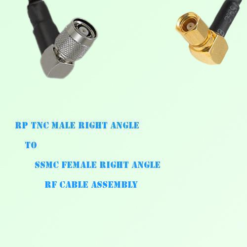 RP TNC Male Right Angle to SSMC Female Right Angle RF Cable Assembly