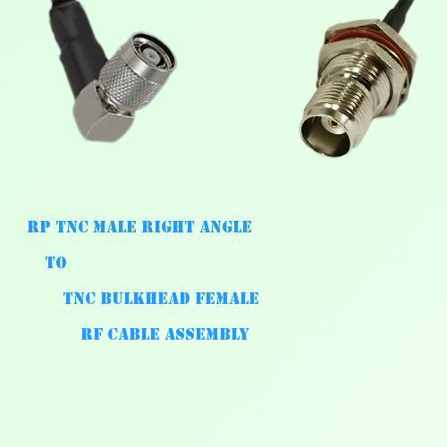 RP TNC Male Right Angle to TNC Bulkhead Female RF Cable Assembly
