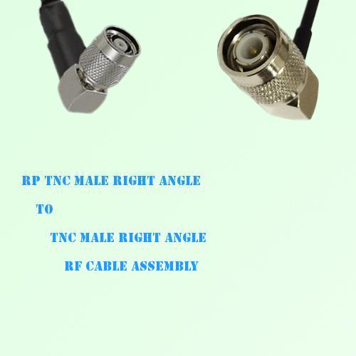 RP TNC Male Right Angle to TNC Male Right Angle RF Cable Assembly