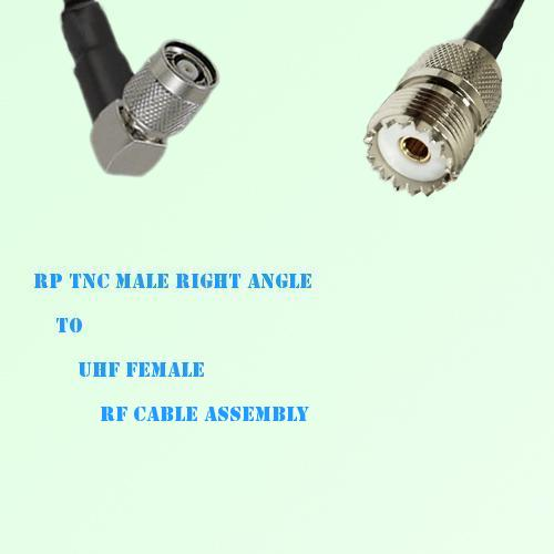 RP TNC Male Right Angle to UHF Female RF Cable Assembly