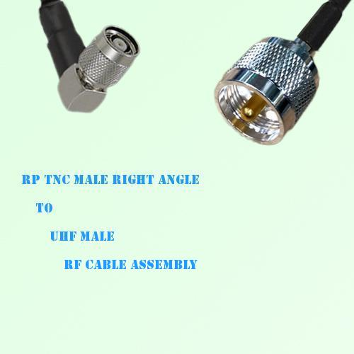 RP TNC Male Right Angle to UHF Male RF Cable Assembly
