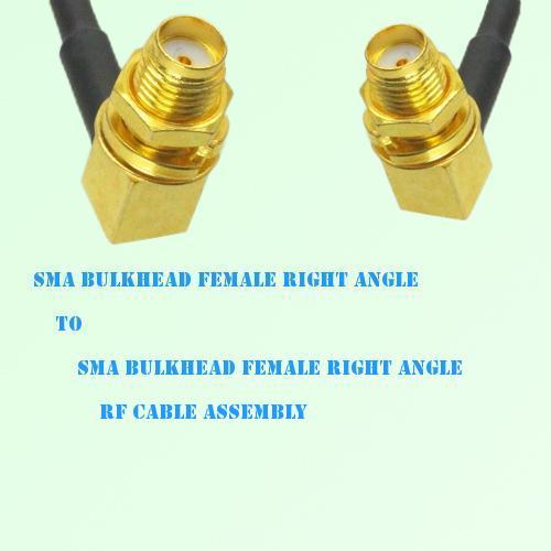 SMA Bulkhead Female R/A to SMA Bulkhead Female R/A RF Cable Assembly