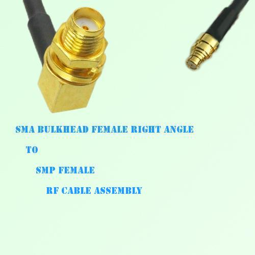 SMA Bulkhead Female Right Angle to SMP Female RF Cable Assembly