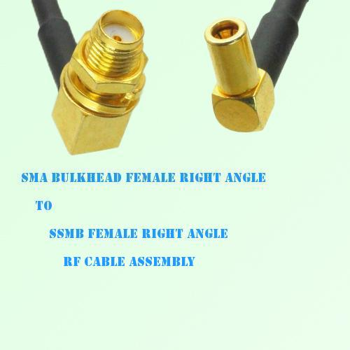 SMA Bulkhead Female R/A to SSMB Female R/A RF Cable Assembly