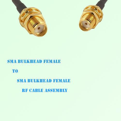 SMA Bulkhead Female to SMA Bulkhead Female RF Cable Assembly