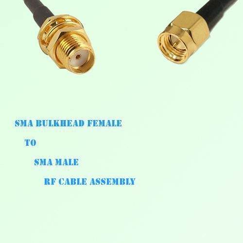SMA Bulkhead Female to SMA Male RF Cable Assembly