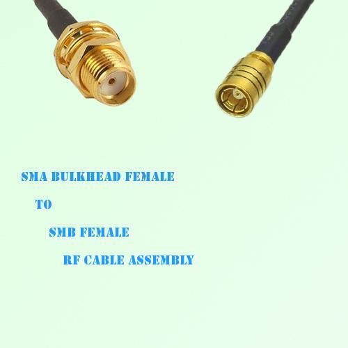 SMA Bulkhead Female to SMB Female RF Cable Assembly
