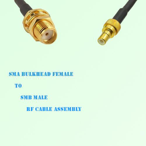 SMA Bulkhead Female to SMB Male RF Cable Assembly