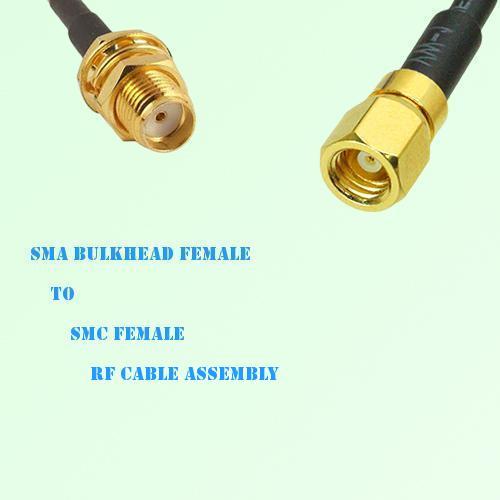 SMA Bulkhead Female to SMC Female RF Cable Assembly
