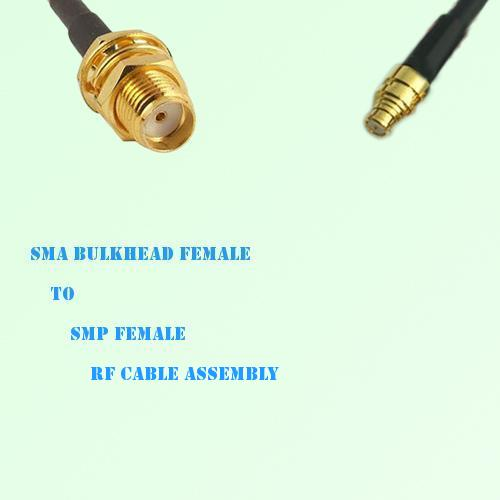 SMA Bulkhead Female to SMP Female RF Cable Assembly