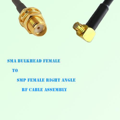 SMA Bulkhead Female to SMP Female Right Angle RF Cable Assembly