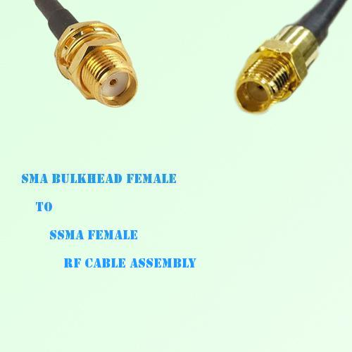 SMA Bulkhead Female to SSMA Female RF Cable Assembly