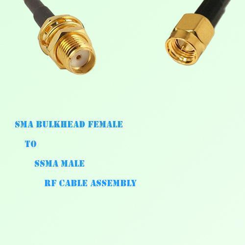 SMA Bulkhead Female to SSMA Male RF Cable Assembly