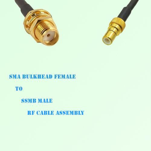 SMA Bulkhead Female to SSMB Male RF Cable Assembly