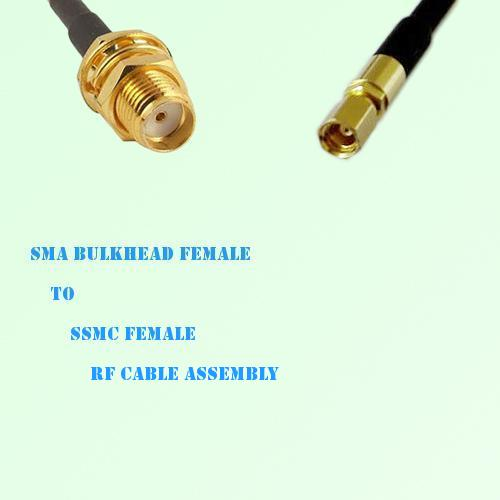 SMA Bulkhead Female to SSMC Female RF Cable Assembly