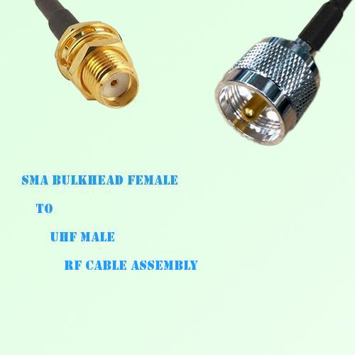 SMA Bulkhead Female to UHF Male RF Cable Assembly