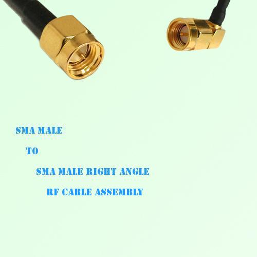 SMA Male to SMA Male Right Angle RF Cable Assembly