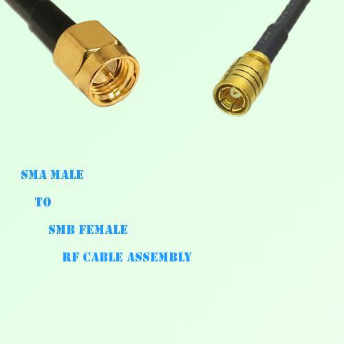SMA Male to SMB Female RF Cable Assembly