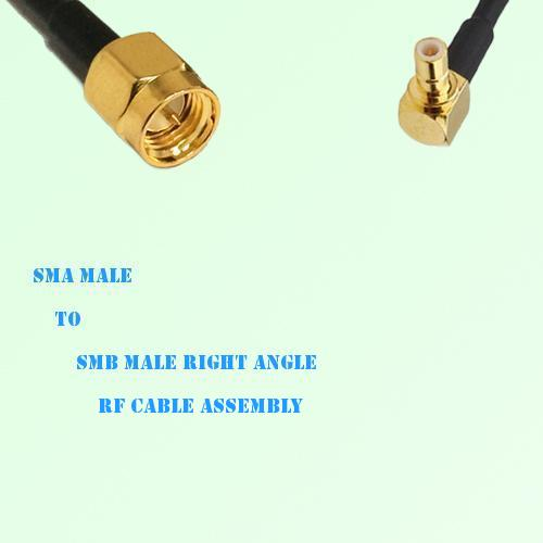 SMA Male to SMB Male Right Angle RF Cable Assembly
