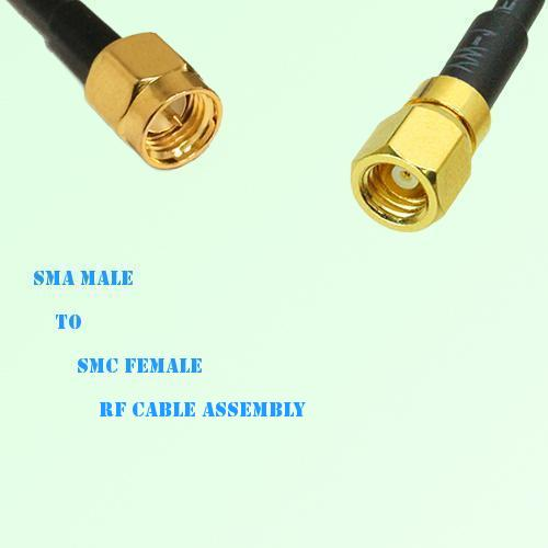 SMA Male to SMC Female RF Cable Assembly