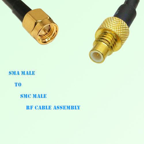 SMA Male to SMC Male RF Cable Assembly