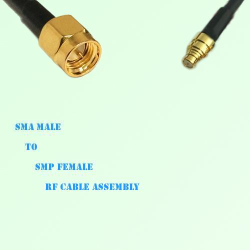 SMA Male to SMP Female RF Cable Assembly