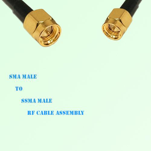 SMA Male to SSMA Male RF Cable Assembly