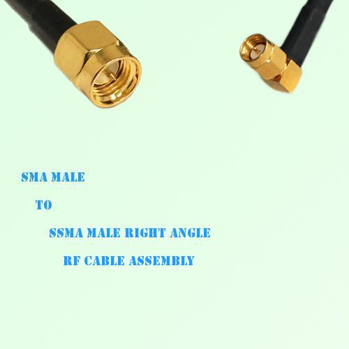 SMA Male to SSMA Male Right Angle RF Cable Assembly