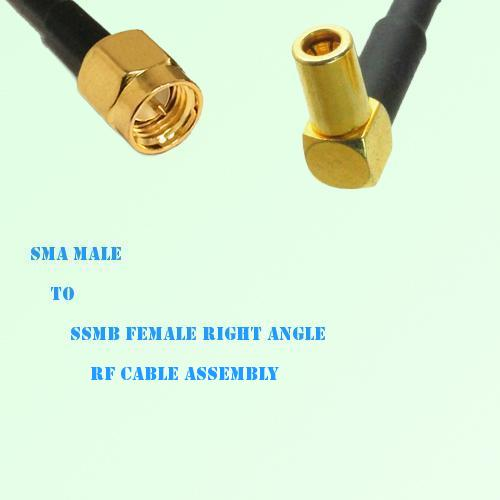 SMA Male to SSMB Female Right Angle RF Cable Assembly
