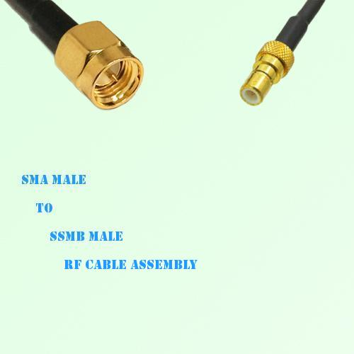 SMA Male to SSMB Male RF Cable Assembly
