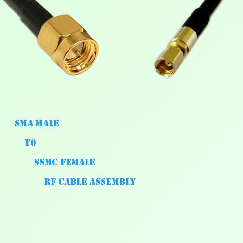 SMA Male to SSMC Female RF Cable Assembly