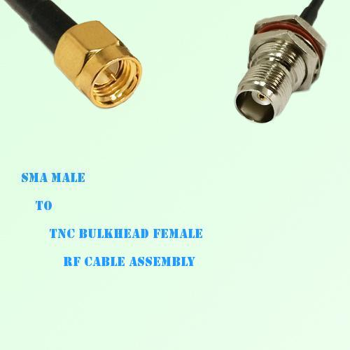 SMA Male to TNC Bulkhead Female RF Cable Assembly