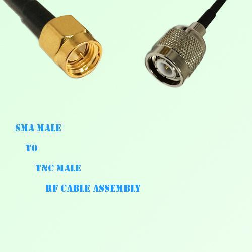 SMA Male to TNC Male RF Cable Assembly