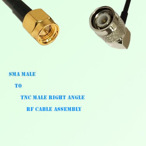 SMA Male to TNC Male Right Angle RF Cable Assembly