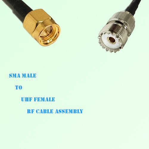 SMA Male to UHF Female RF Cable Assembly