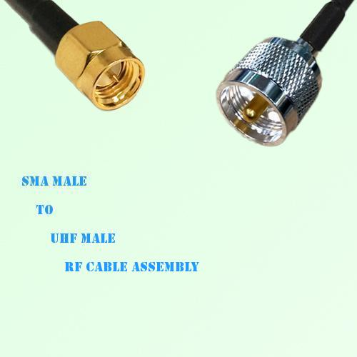 SMA Male to UHF Male RF Cable Assembly