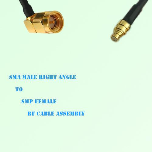 SMA Male Right Angle to SMP Female RF Cable Assembly