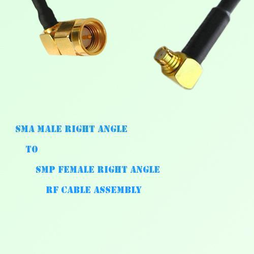 SMA Male Right Angle to SMP Female Right Angle RF Cable Assembly