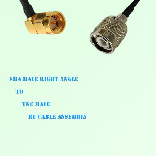 SMA Male Right Angle to TNC Male RF Cable Assembly