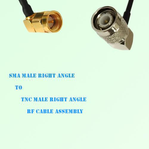 SMA Male Right Angle to TNC Male Right Angle RF Cable Assembly