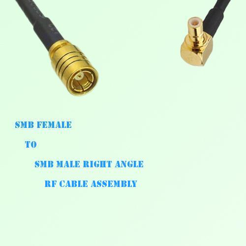 SMB Female to SMB Male Right Angle RF Cable Assembly