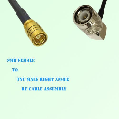 SMB Female to TNC Male Right Angle RF Cable Assembly
