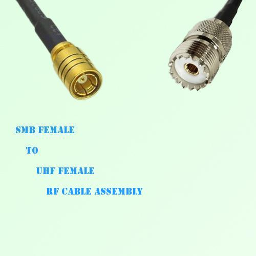 SMB Female to UHF Female RF Cable Assembly